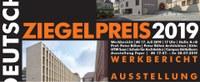 Wanderausstellung zum Deutschen Ziegelpreis 2019 gastiert vom 17. bis 28. Juli an der Schule für Architektur Saar