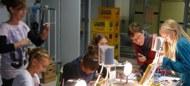 Erster Durchgang Schülerlabor Saline (Foto in geringer Auflösung)